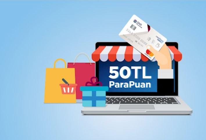 CardFinans Nakit ile İnternet Alışverişlerinize 50 TL ParaPuan!
