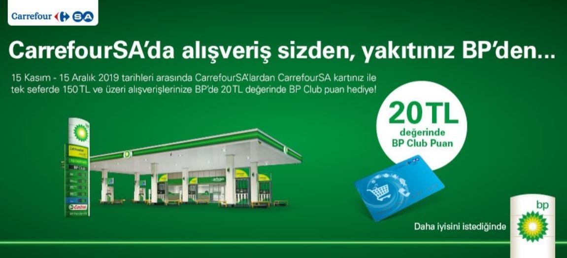 CarrefourSA'dan Alışveriş BP'de Akaryakıt Kazandırıyor!