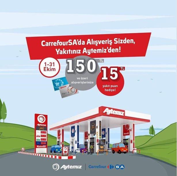 CarrefourSA'da alışveriş sizden, yakıtınız Aytemiz'den!