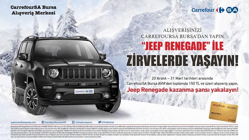 CarrefourSA Bursa AVM Jeep Renegade Çekiliş Kampanyası!