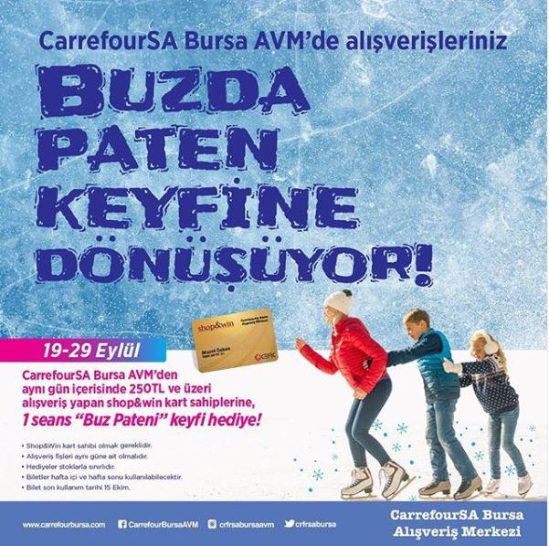 Carrefoursa Bursa AVM'den Buzda Paten Keyfi hediye!