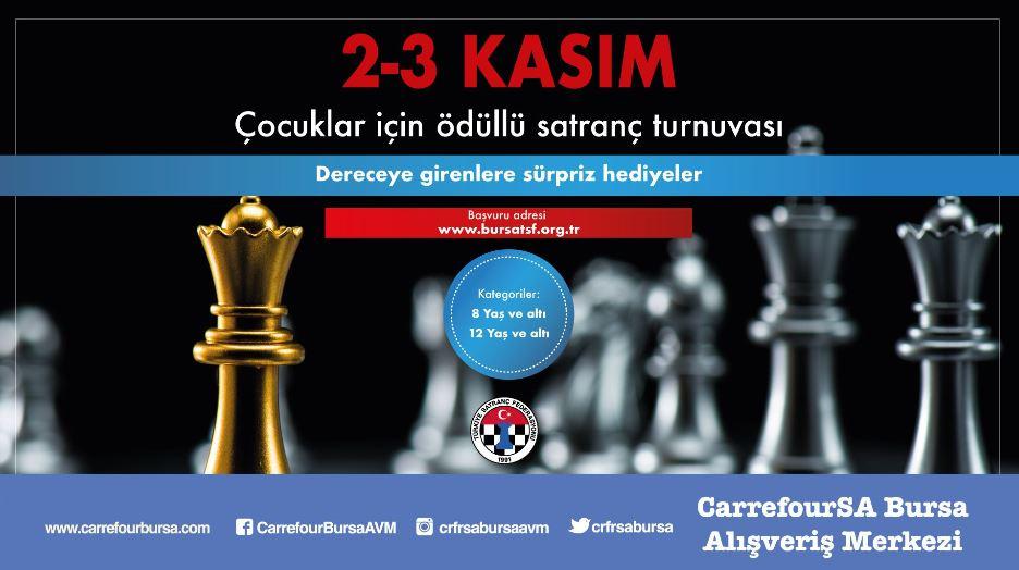 CarrefourSA Bursa AVM Ödüllü Satranç Turnuvası!