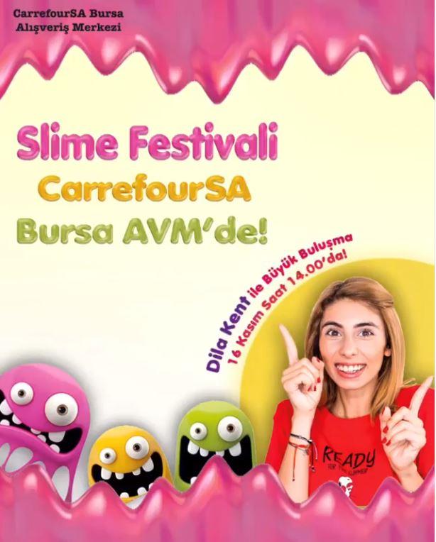 Slime Festivali CarrefourSA Bursa AVM'de!