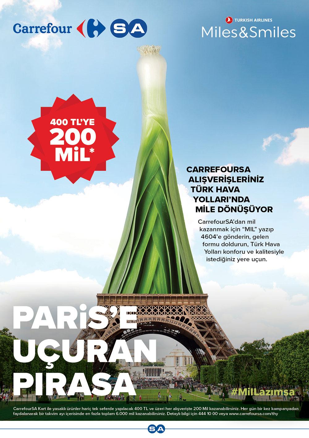 CarrefourSA alışverişleriniz Türk Hava Yolları'nda mile dönüşüyor