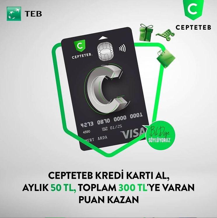 CEPTETEB Kredi Kart'ından 300 TL'ye varan puan fırsatı!
