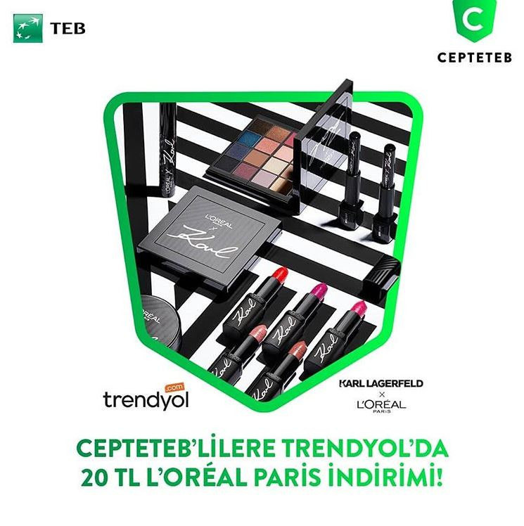 CEPTETEB'lilere Trendyol'da 20 TL Loreal Paris İndirimi!