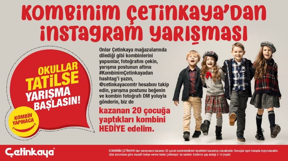 Kombinim Çetinkaya'dan İnstagram Yarışması!