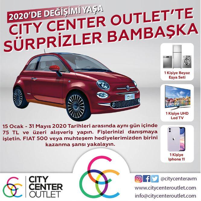 City Center Outlet Fiat 500 Çekiliş Kampanyası!