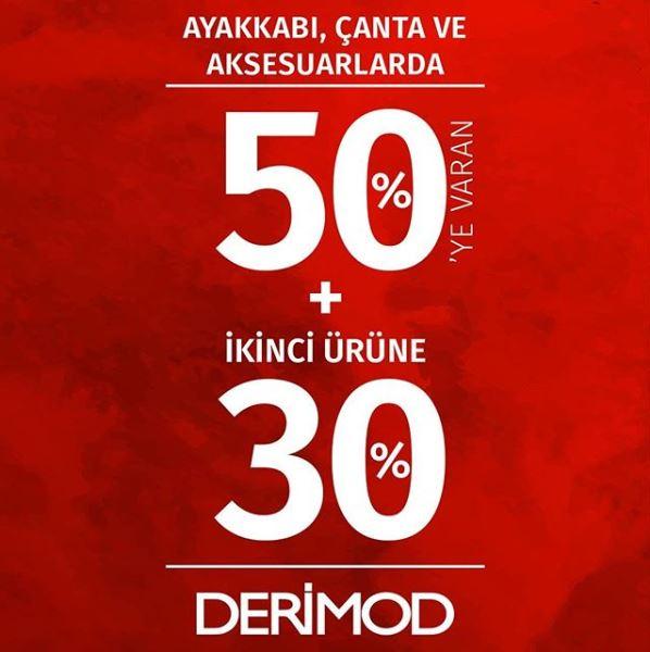 Derimod'da %50 + %30 indirim fırsatı!