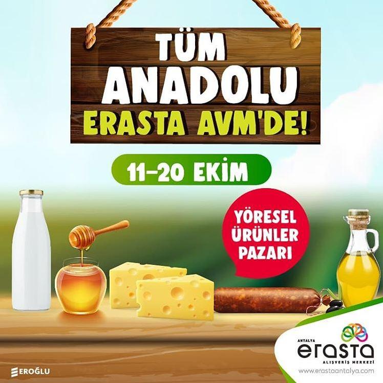 Erasta Antalya AVM Yöresel Ürünler Pazarı!