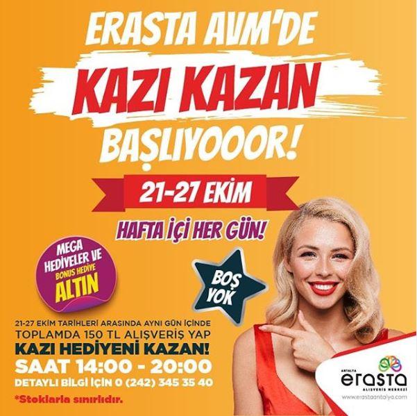 Erasta Antalya Avm'de Kazı Kazan başlıyor!
