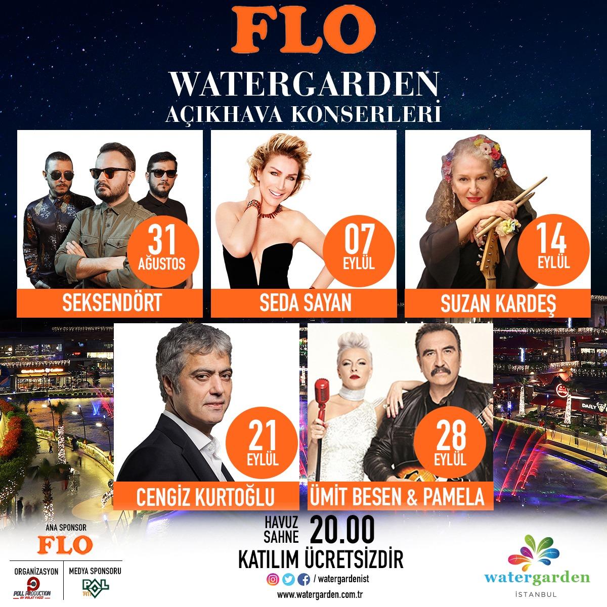 FLO Watergarden Konserleri başlıyor!