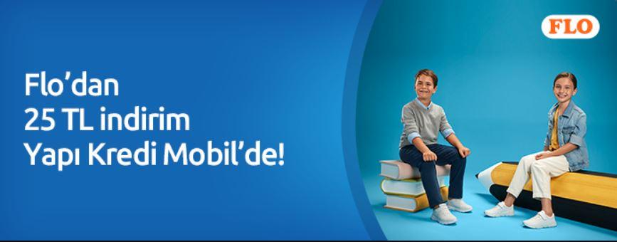 Sonbahar Alışverişlerinizde Flo'dan 25 TL indirim Yapı Kredi Mobil'de!
