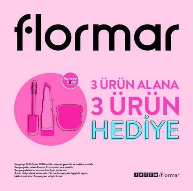 Flormar'da 3 ürün alana 3 ürün hediye.