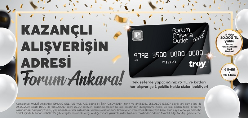 Forum Ankara 10.000 TL yüklü Param Ankara Kart Çekiliş Kampanyası!