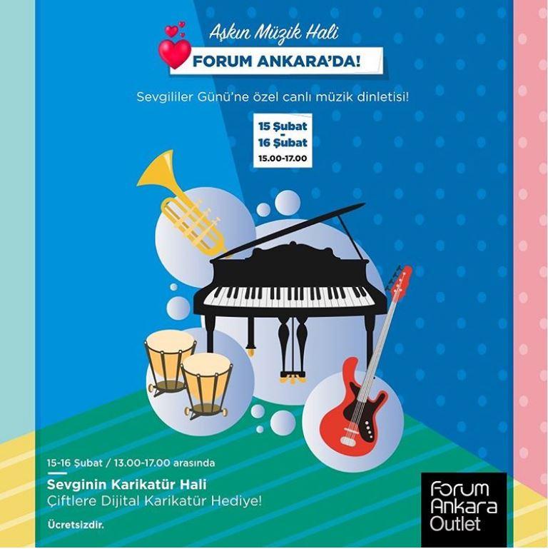 Forum Ankara Outlet'te Sevgililer Günü'ne özel müzik dinletisi!