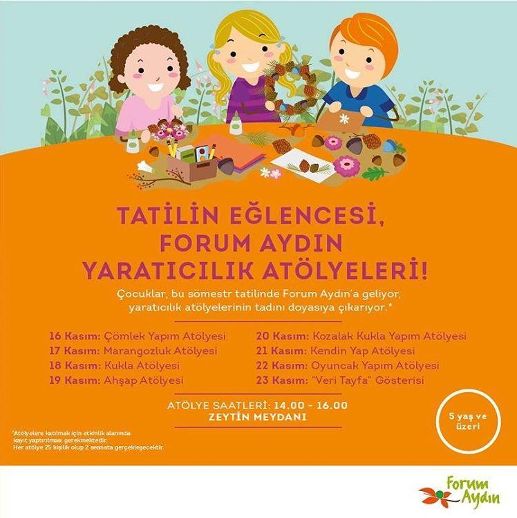 Tatil eğlencesi en güzel Forum Aydın'da yaşanır!