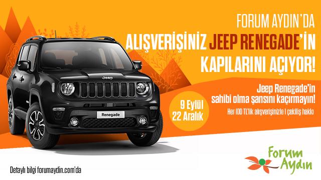 Forum Aydın Jeep Renegade Çekiliş Kampanyası!