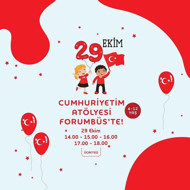 Forum Bornova Cumhuriyetim Atölyesi Forumbüs'te!