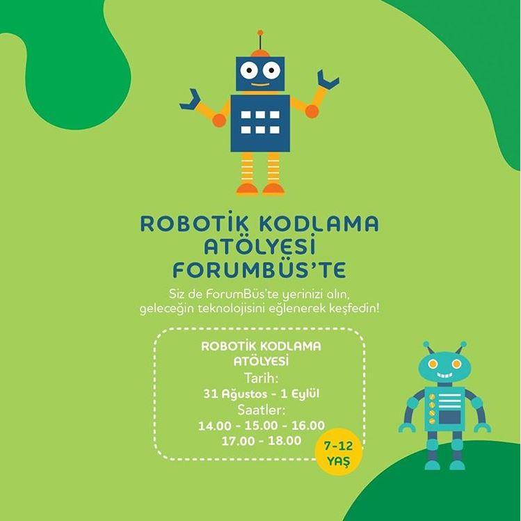 Forum Bornova Robotik Kodlama Atölyesi ForumBüs'te!