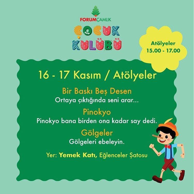 Bu hafta sonu da miniklerimiz Forum Çamlık'ta eğlenecek!