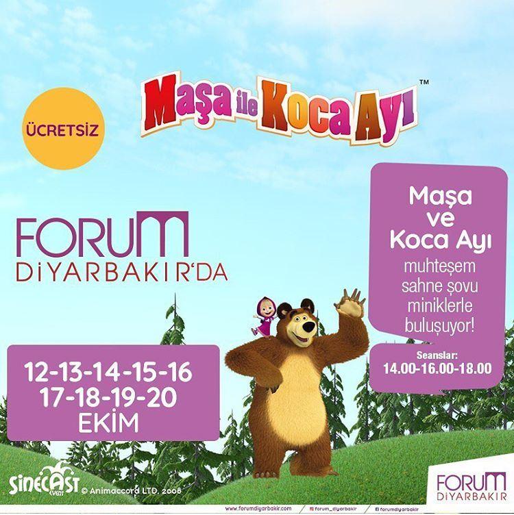 Forum Diyarbakır Maşa ile Koca Ayı Müzikal Etkinliği!