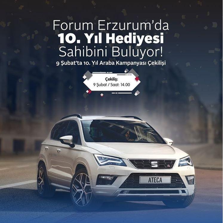 Forum Erzurum Seat Ateca Çekilişi Gerçekleşiyor!