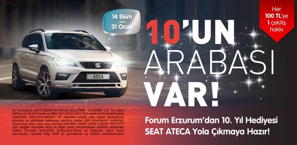 Forum Erzurum Seat Ateca Çekiliş Kampanyası!