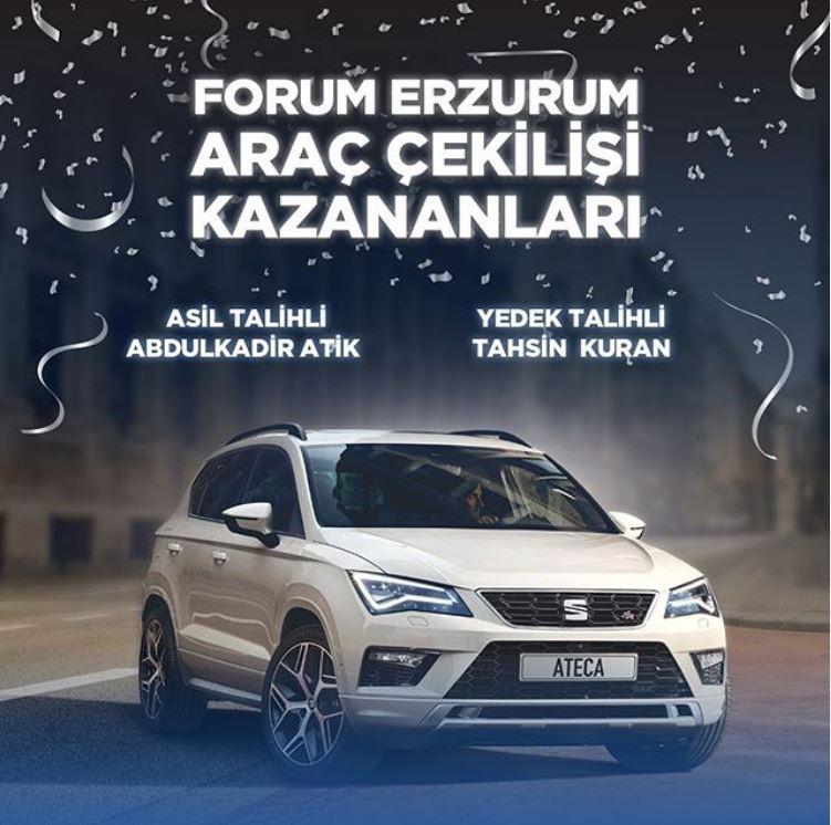 Forum Erzurum Seat Ateca Çekiliş Sonucu Açıklandı!