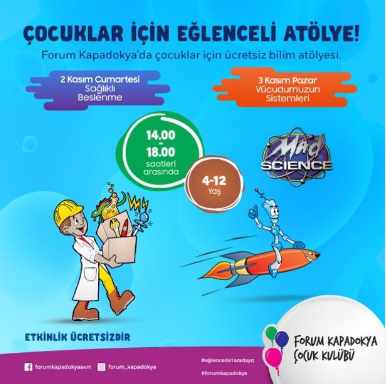 Forum Kapadokya 2 - 3 Kasım Çocuk Atölyeleri!