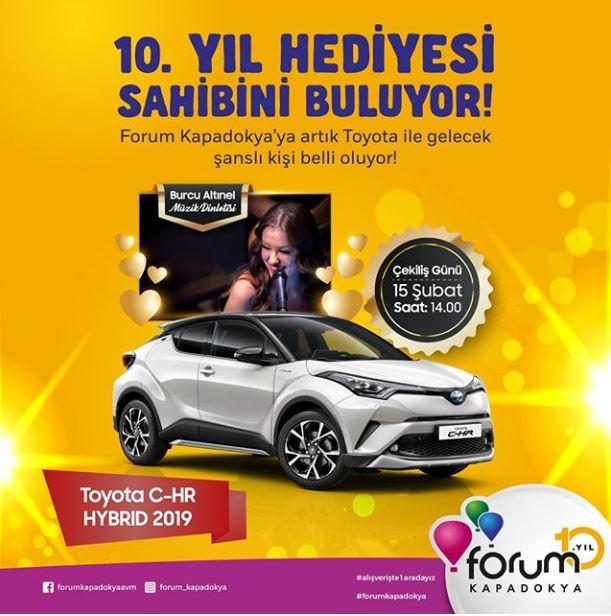 Forum Kapadokya Toyota C-HR Çekilişi Gerçekleşiyor!