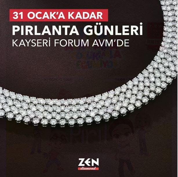 Kayseri Forum AVM Zen Pırlanta Günleri!