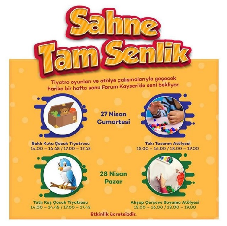 Forum Kayseride Sahne Tam Senlik Kredikartlarinet