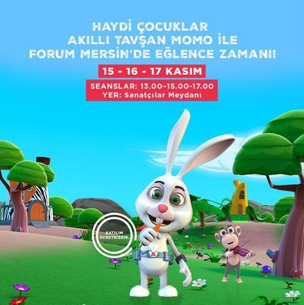 Forum Mersin Akıllı Tavşan Momo Müzikal Etkinliği!