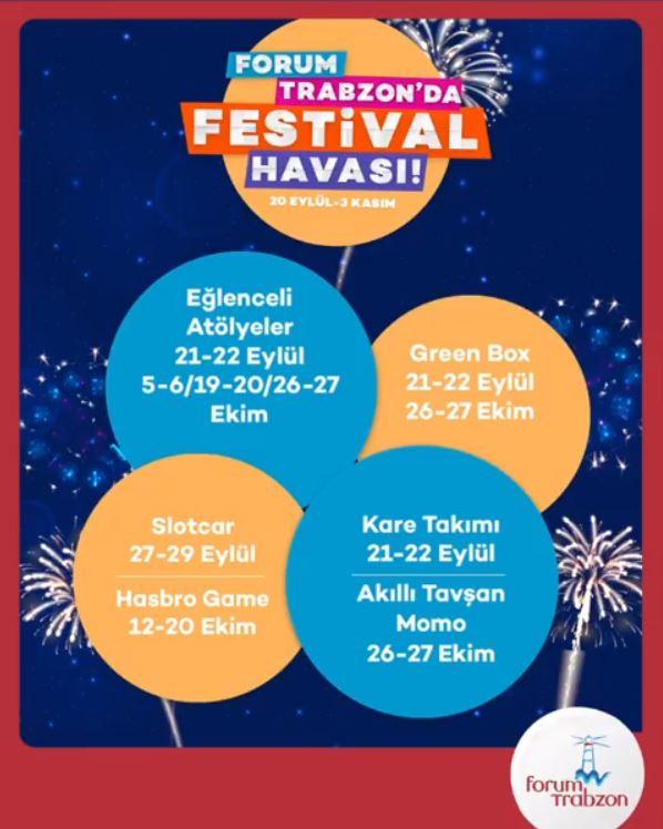 Forum Trabzon'da festival havası başlıyor!