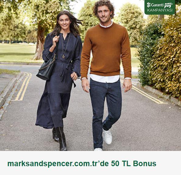 GarantiPay ile marksandspencer.com.tr'de 50 TL Bonus