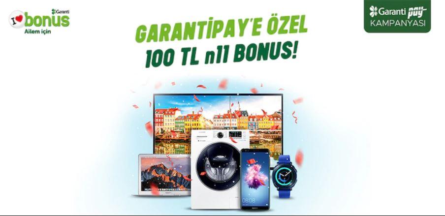 GarantiPay ile 100 TL n11 bonus fırsatı!