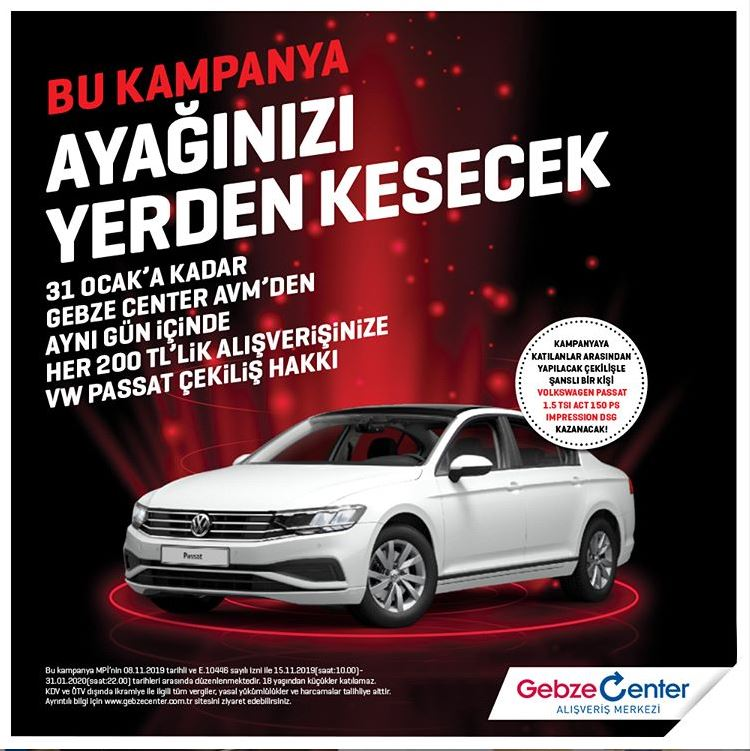 Gebze Center Volkswagen Passat Çekiliş Kampanyası!