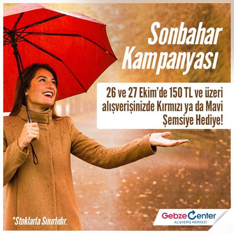 Gebze Center Hediye Şemsiye Sonbahar Kampanyası!