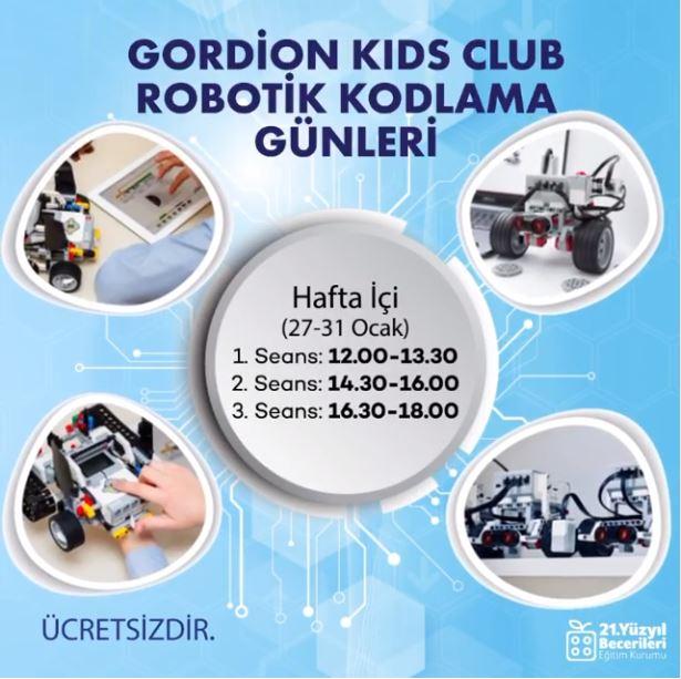 Gordion Kids Club Robotik Kodlama Günleri!