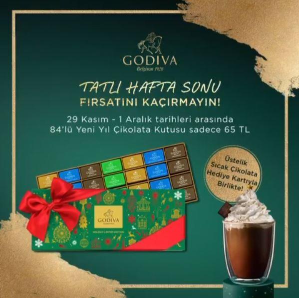 Godiva'dan Tatlı Hafta Sonu Fırsatı!
