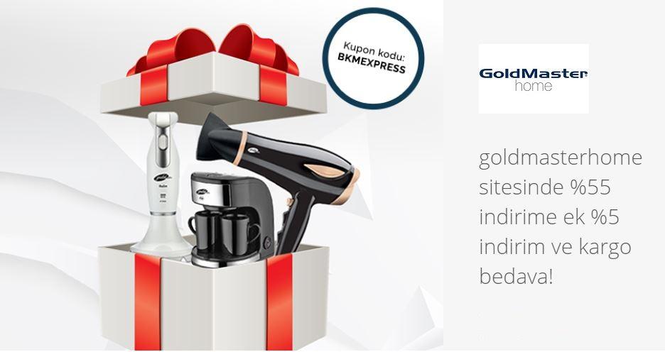 goldmasterhome sitesinde BKM Express ile ek %5 indirim ve kargo bedava!