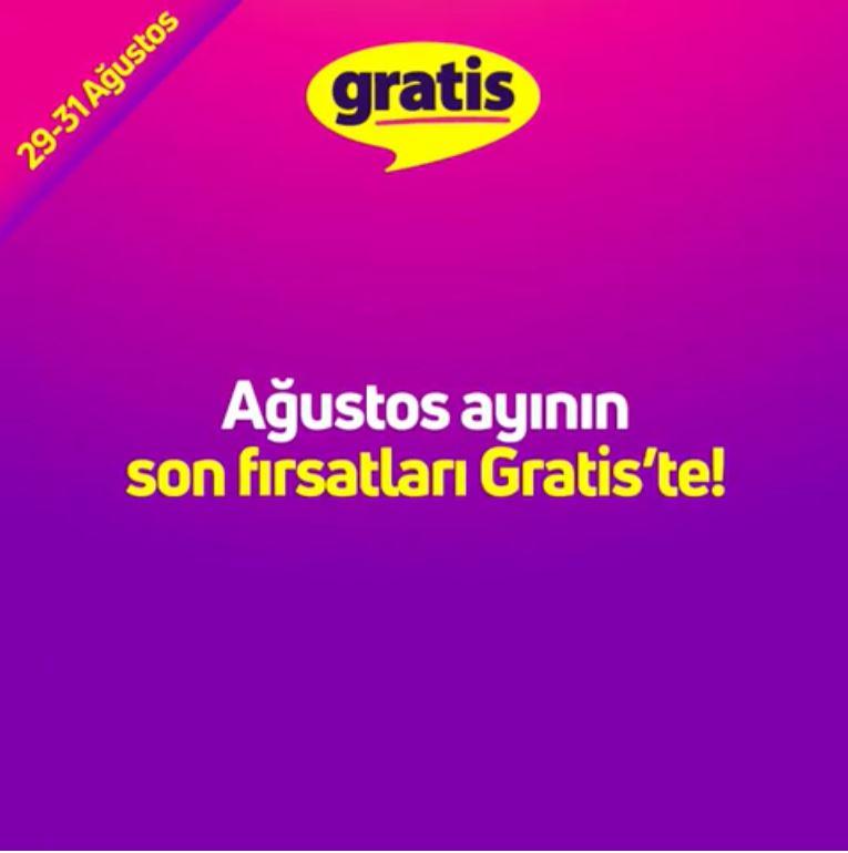Ağustos ayınının son fırsatları Gratis'te!