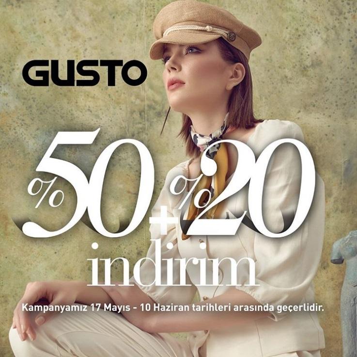 Gusto'da Bayrama Özel %50 + %20 İndirim Fırsatı!