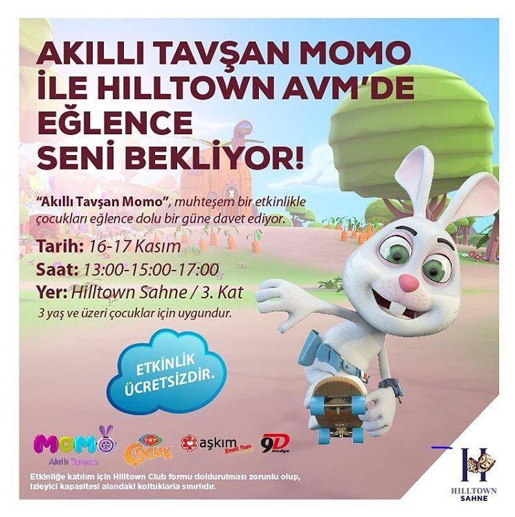 Hilltown AVM Akıllı Tavşan Momo Müzikal Etkinliği!
