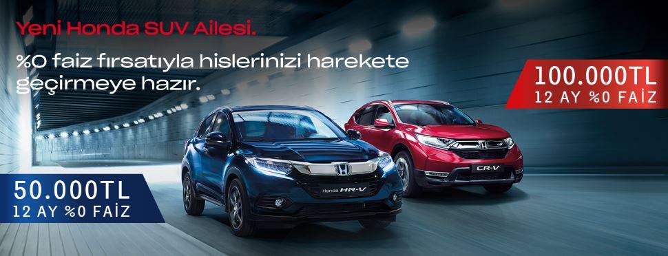 Yeni Honda SUV Ailesi 50.000 TL 12 ay %0 Faiz Fırsatıyla!