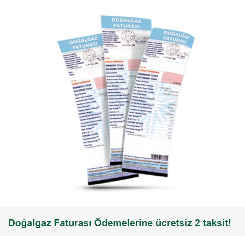 Bonus ile Doğalgaz Faturası Ödemelerine ücretsiz 2 taksit!