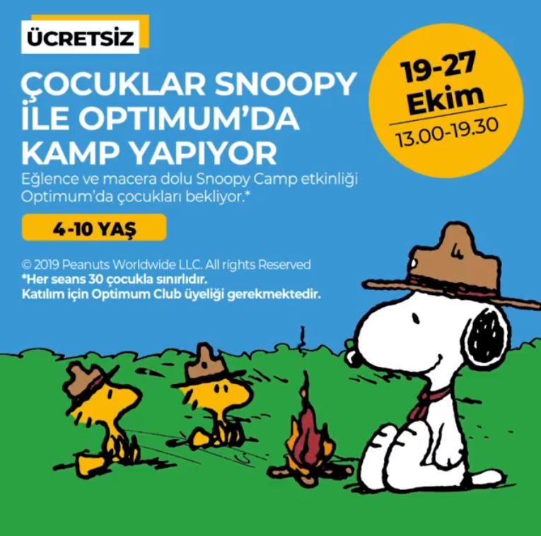 Çocuklar Snoopy ile İstanbul Optimum'da Kamp Yapıyor!