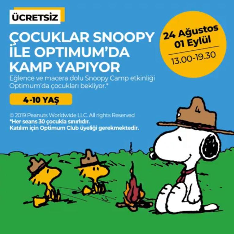 İstanbul Optimum'da Çocuklar Snoopy ile Kamp Yapıyor!