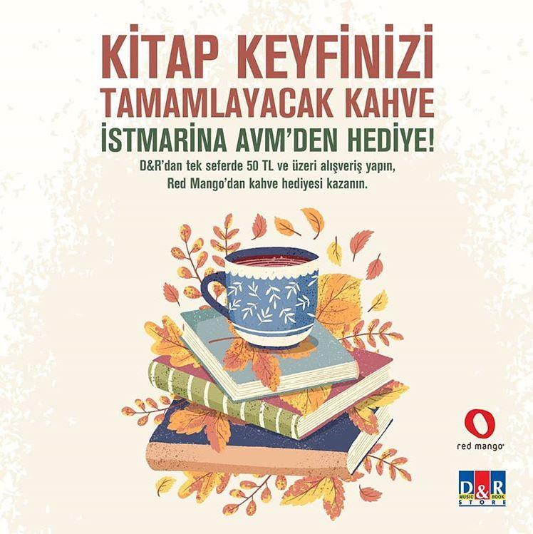 Kitap keyfinizi tamamlayacak kahve İstMarina AVM'den hediye!